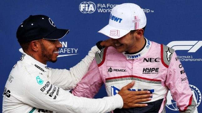 Lewis Hamilton (vasakul) ja Esteban Ocon.