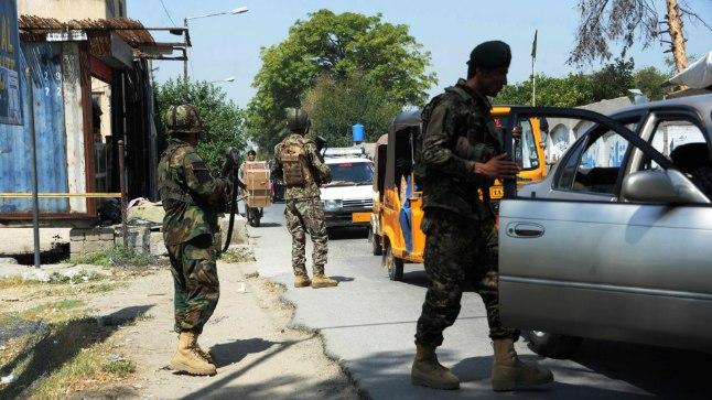 Afganistani sõdurid 1. augustil Nangarharis