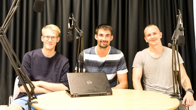 Tanel Kurbas (keskel), Ats Kuldkepp (vasakul) ja Jarmo Jagomägi.