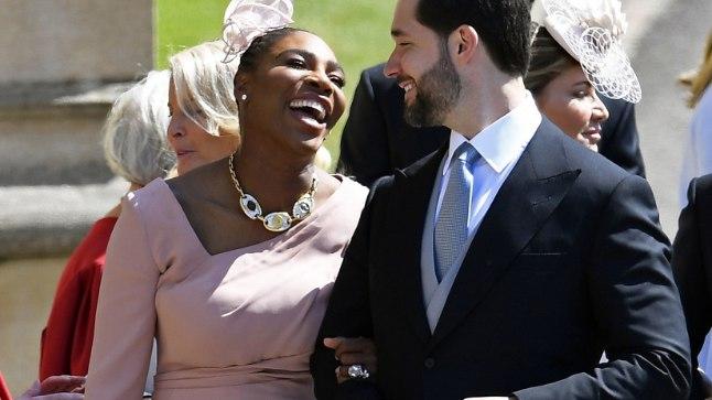 ÕNNELIKUD: Serena Williams koos abikaasa Alexis Ohanianiga.