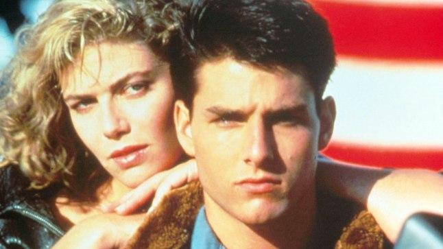 "Tom Cruise ja Kelly McGillis ""Top Gunis"" (1986)."
