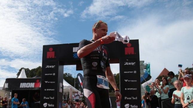 Marko Albert pärast finišit.