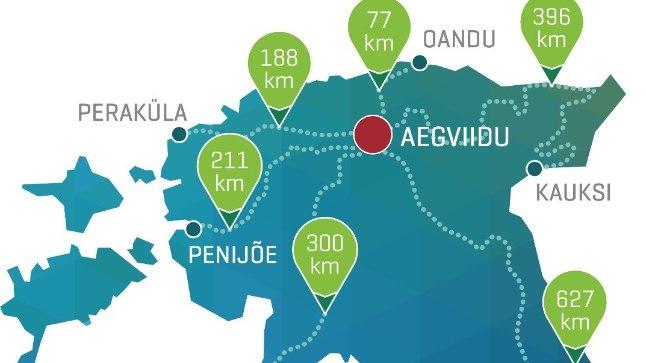 Ühismatkal läbitakse kolme nädalaga 1800 kilomeetrit.