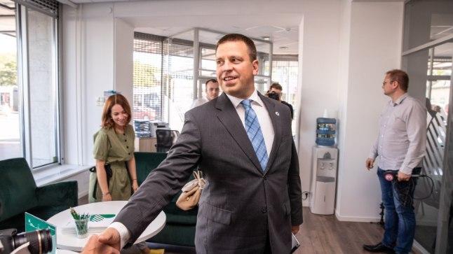 Keskerakonna uus kontor Narva maanteel.