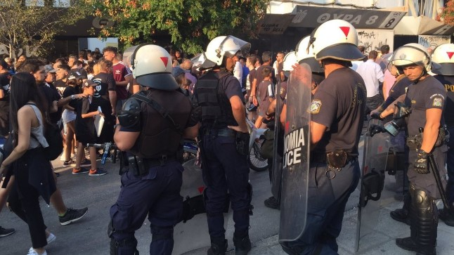 Thessaloniki politsei enne mängu PAOK - Spartak.