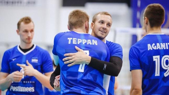 Eesti koondise võrkpallurid.