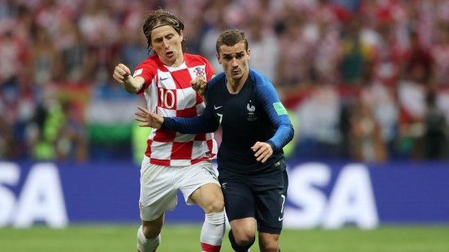 Kolmapäeval näeb Tallinnas justkui MM-i finaali kordusetendust – vastamisi on Antoine Griezmann (Prantsusmaa ja Atlético) ning Luka Modrić (Horvaatia ja Real).