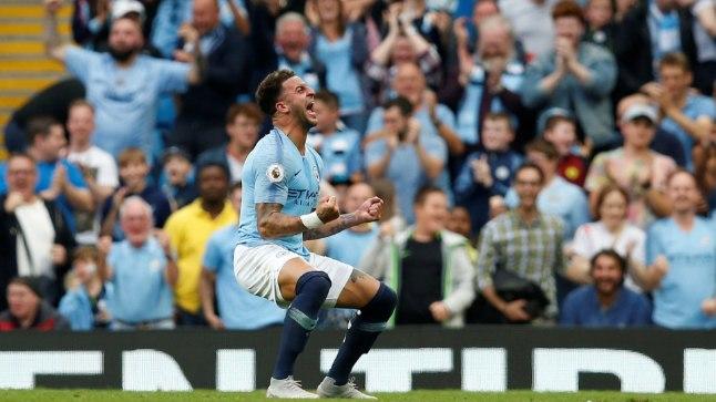 Manchester City võiduvärava autor Kyle Walker.