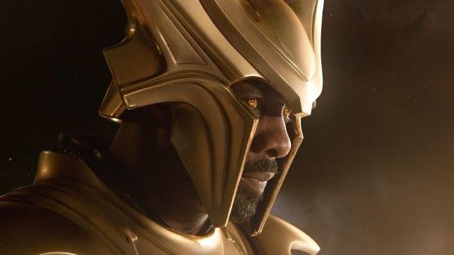 """Idris Elba on Heimdalli kehastanud viiel korral: kolm korda """"Thori"""" filmides ning kahel korral """"Tasujates""""."""