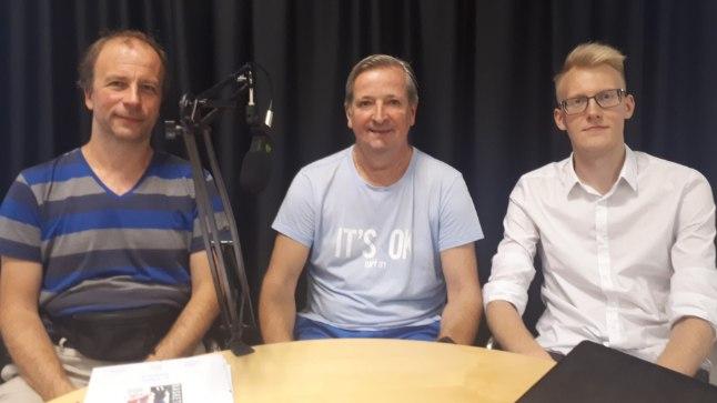 """Tänases """"Viiendas veerandajas"""" osalesid Ville Arike (vasakult), Riho Soonik ja Ats Kuldkepp."""