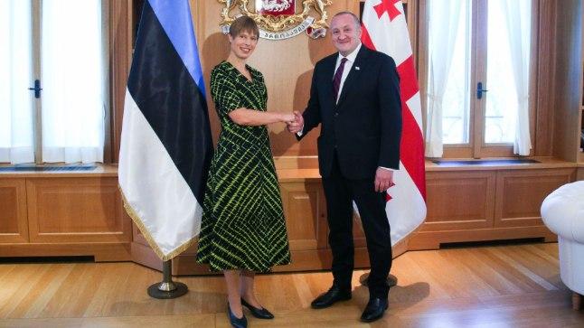 Kersti Kaljulaid ja Giorgi Margvelašvili