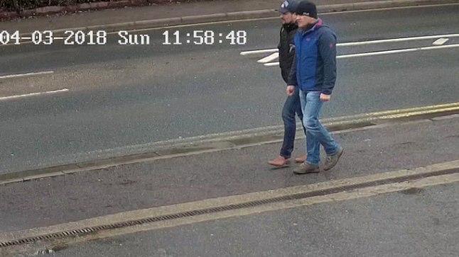 OPERATSIOONIL: Valvekaamera jäädvustas Ruslan Boširovi ja Aleksandr Petrovi 4. märtsil Salisburys Sergei Skripali maja lähistel.