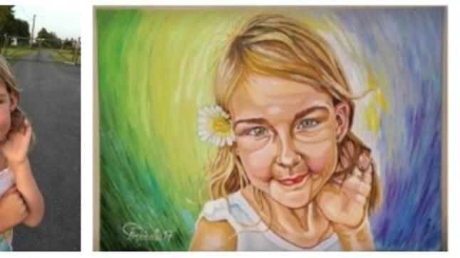 SATTUS MAALILE: Väikese Annabeli isa sõnul maalis Toomas Reisalu temast pildi luba küsimata.