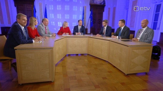 Parlamendierakondade esimehed pidamas riigikogu valimiste esimest debatti.