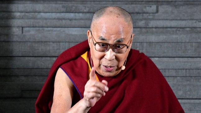 Tiibeti vaimne juht Malmös esinemas.