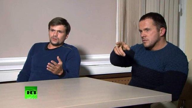 """TURISTINA TELEVISIOONIS: """"Me olime Inglismaal turistidena, pole GRUst kuulnudki ja teenime leiba väikeärimeestena,"""" väitsid Boširov ja Petrov telesaates."""