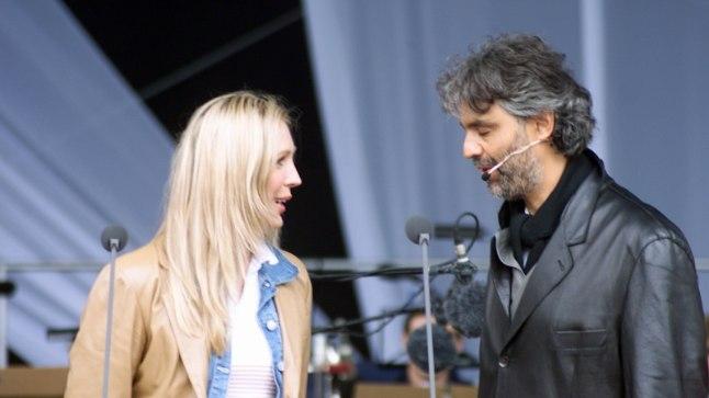 Andrea Bocelli koos Annely Peeboga