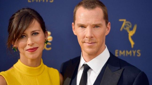 Sophie Hunter ja Benedict Cumberbatch 17. septembril Los Angeleses Emmyde jagamisel.