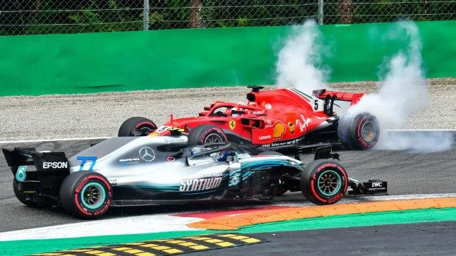 KUHU SUUNAS? Kokkupõrge, mis võimaldas Lewis Hamiltonil kõige kangema rivaali sõitjaterivi lõppu saata