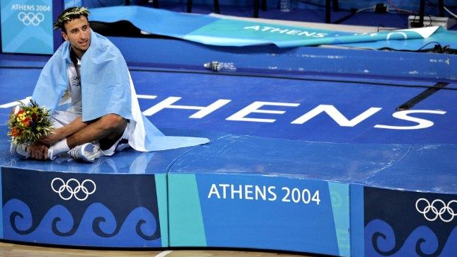 Emanuel Ginobili 2004. aastal, Ateena olümpia kullamehena.