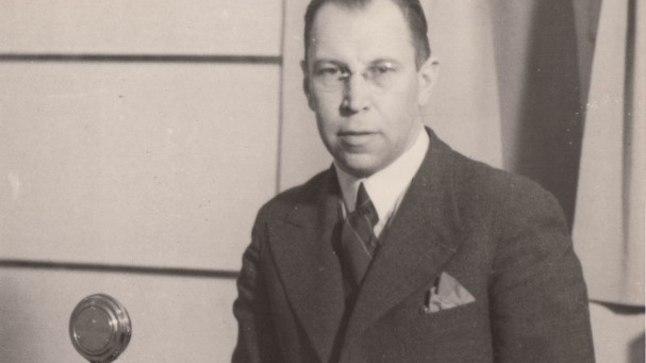 RIIGI RINGHÄÄLINGU DIREKTOR: Fred Olbrei oma kabinetis 1930. aastate lõpus.