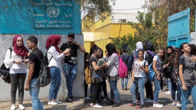 Palestiina õpilased UNRWA rahastatud keskkoolis on 1948. aastal põgenenute järeltulijad