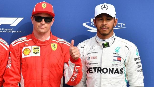 Kimi Räikkönen (vasakul) ja Lewis Hamilton.