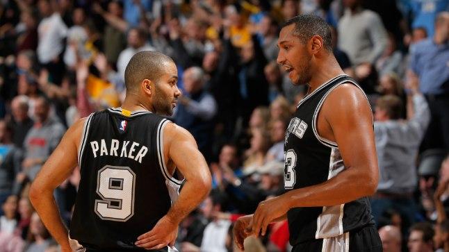 Kaks vinget prantslast: Boris Diaw (paremal) ja Tony Parker San Antonio Spursis.