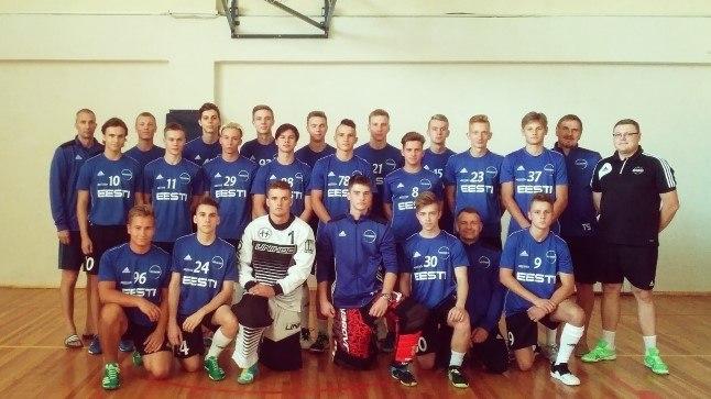 Eesti U-19 noormeeste saalihokikoondis.