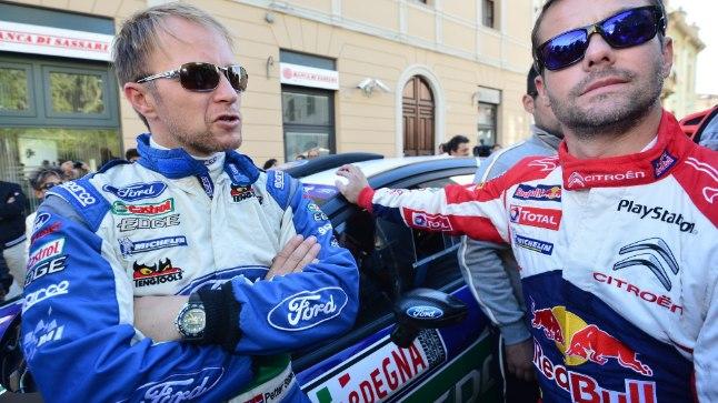 Maailmameistrid! Petter Solberg (vasakul) ja Sebastien Loeb. Foto aastast 2012.