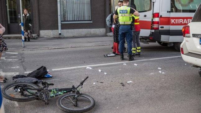 Jalgrattaavarii. Pilt on illustratiivne.