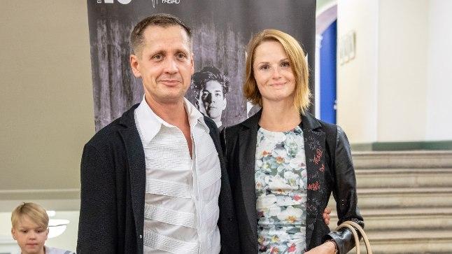"""Toomas Edur koos Alena Shkatulaga  balleti """"Keres"""" esietendusel Estonias."""