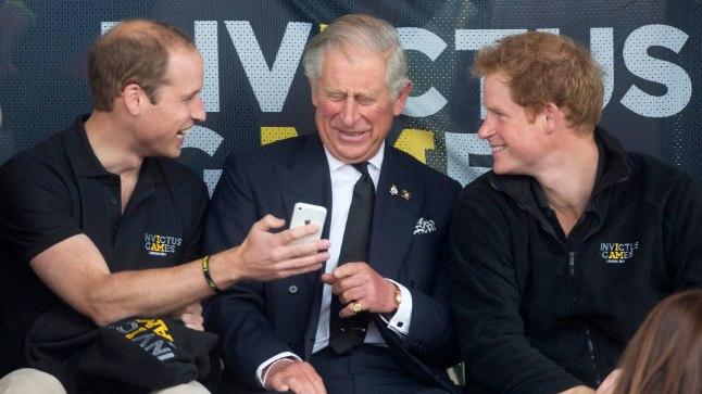 Prints Charles koos poegadega 2014. aastal.