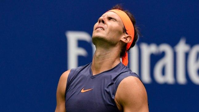 Pettunud Rafael Nadal.