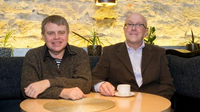Andrus Kivirähk ja Mart Juur (paremal)