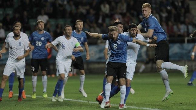 Eesti jalgpallikoondis kaotas kodus Kreekale.