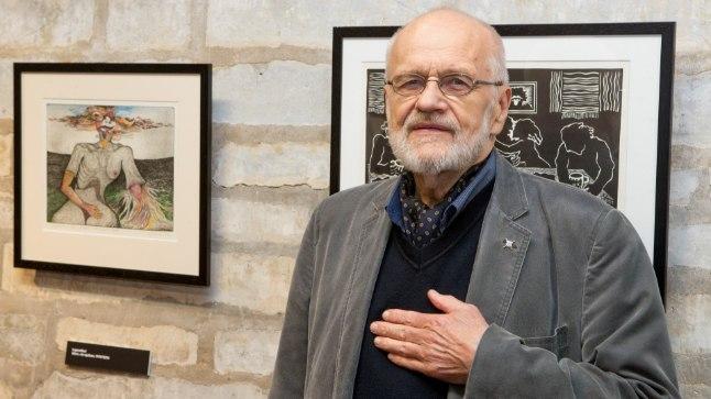 GALERII | Joonistatud visioonid: Jüri Arrak avas koloreeritud graafika näituse
