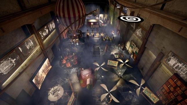 Avatavas avastuskeskuses on ligi 30 virtuaalreaalsuse ja elamuseksponaati. Külastajatele jääb ruumi sisenedes esimesena silma suur kuumaõhupall.