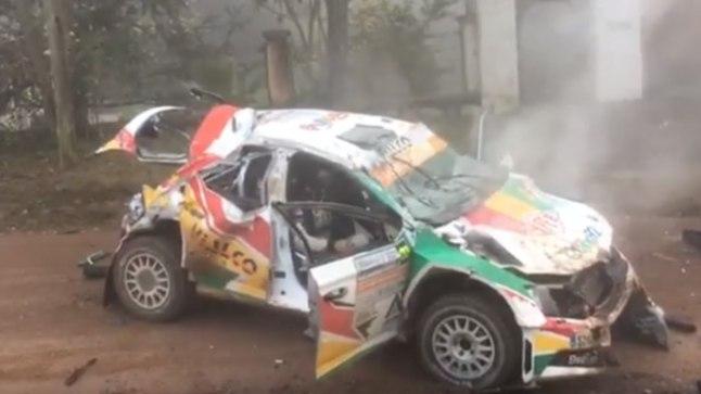 VIDEO   18aastane rallipiloot tegi Argentina MM-etapil hirmuäratava õnnetuse