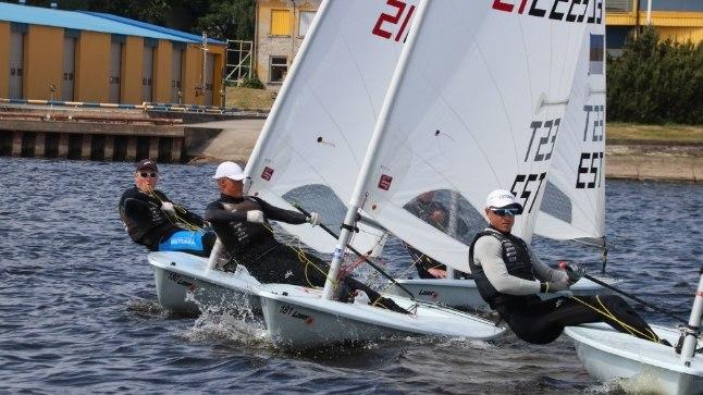 Laser Standardi klassi finaalsõidu start mullusel Pärnu purjetamisnädalal.