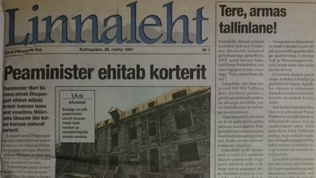 Tallinna Linnaleht nr 1, ilmus 26. märtsil 1997