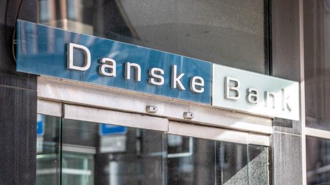 Danske panga logo Tallinnas Narva maanteel