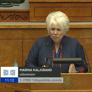 KALJURAND RIIGIKOGUS: kogu Eesti diplomaatia töötab täna meie julgeoleku tagamise nimel