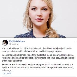 """Kõrgemäe modelliagentuuriga seotud skandaali avalikkuse ette toonud TV3 reporter: <font color=&quot;#d30008&quot;>""""MIND"""