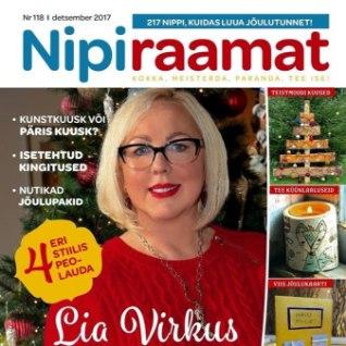 <font color=&quot;#ff7800&quot;>Lia Virkus õpetab</font> värskes Nipiraamatus vaid 2,5 tunniga jõuluroogi kokkama