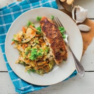 <font color=&quot;#ff136c&quot;>Kiirelt valmiv õhtusöök:</font> valge kala parmesani-paneeringus