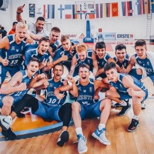 <font color=&quot;#d30008&quot;>VÕIMAS!</font> Eesti U16 korvpallikoondis alistas Saksamaa ja jäi A-divisjoni püsima