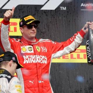 Hamilton ei suutnud tiitlit kindlustada, Räikkönen sai ajaloolise võidu