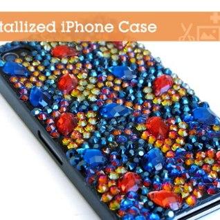 VIDEO! <font color=&quot;#d30008&quot;>Eriti särav</font>! Kaunista oma telefoniümbris kristallikestega