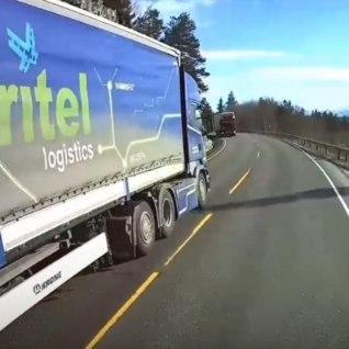 <font color=&quot;#d30008&quot;>VIDEO | </font>Eesti veok tekitas Norra mägiteel verdtarretavalt ohtliku olukorra